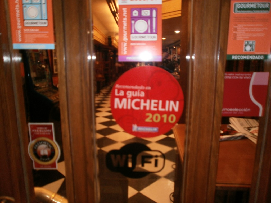Michelin Recommended sign