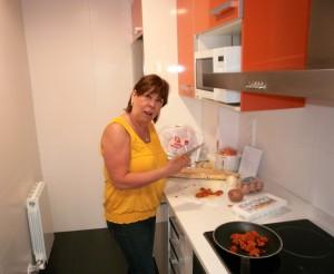 kitchen of apartment in Zaragosa Spain