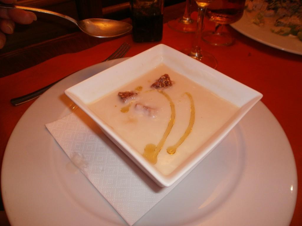 White Asparagus Soup Baserri Pamplona Spain