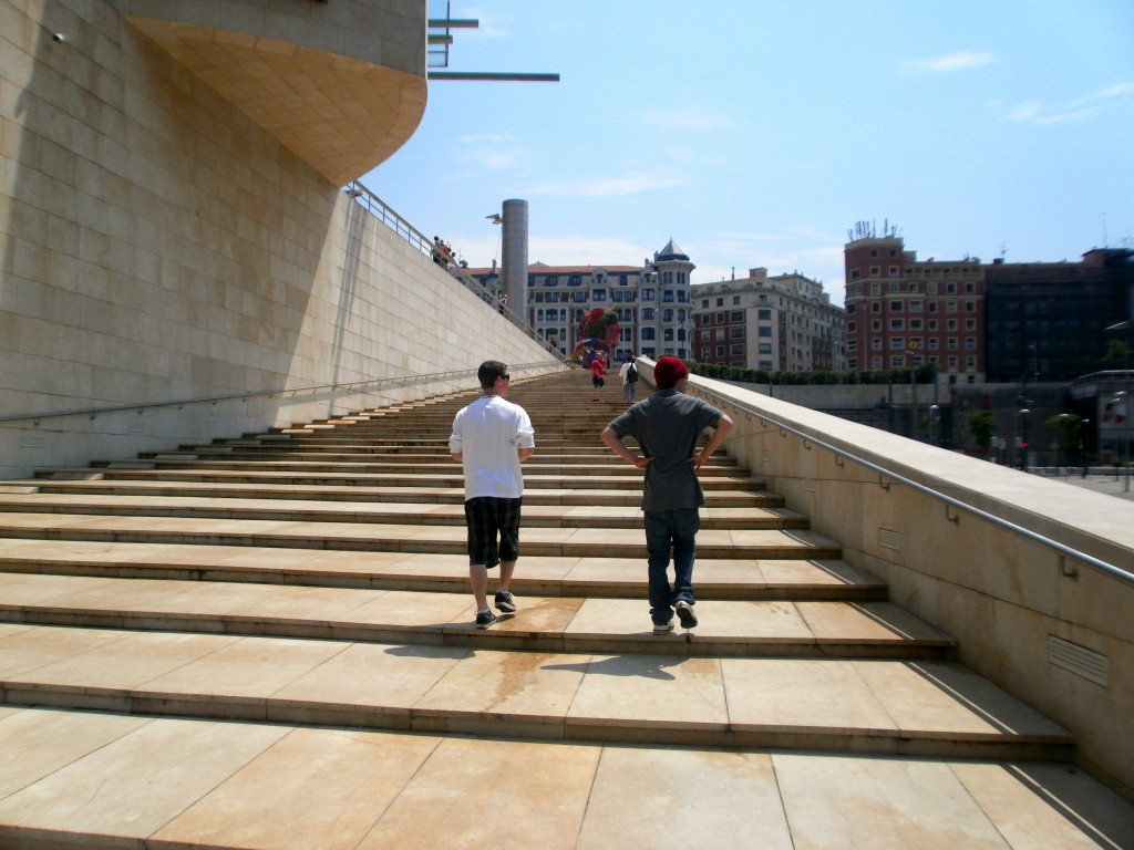 steps at the Guggenheim museum in Bilbao